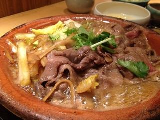 国産牛すき煮定食