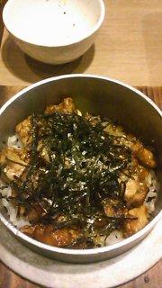 鶏の甘唐釜飯