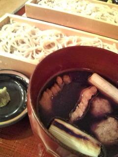 鴨汁付け うどん 蕎麦