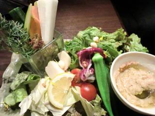 近江野菜パフェ&バーニャカウダ 自家製アンチョビソース
