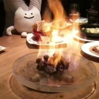 炎のサイコロステーキ にんにくソース
