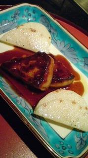 フォアグラの鉄板焼きマデラソース
