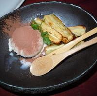 焼きさつまいもとバニラのメープルシロップ