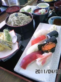 お寿司の握りと天婦羅セット