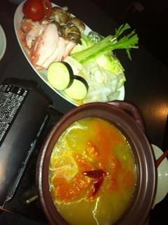 自家製トマトペースト使用 鯛とトマトのコラーゲン鍋