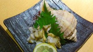 真つぶ貝の刺身