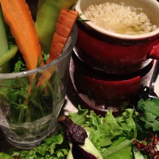 近江野菜のパフェ&バーニャカウダ