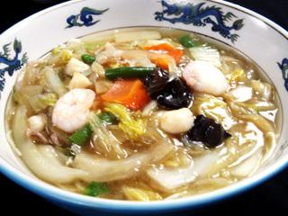 上海風 海鮮とろみ汁そば