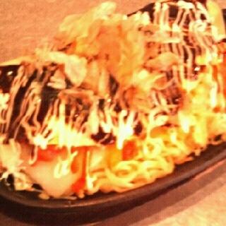 餅明太チーズモダン焼き