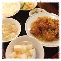 鳥肉の唐揚甘酢辛味