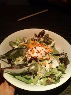 おぼろ月見のシーザーサラダ