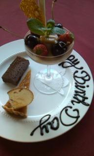 お誕生日コースのデザート