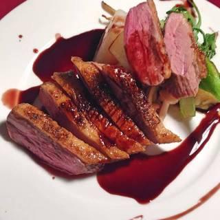 鴨肉の赤ワインソース