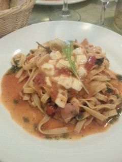モッツァレラチーズのトマト風味 スパゲッティ