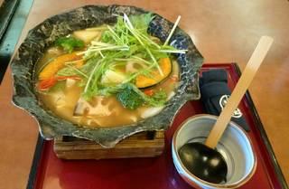 冬野菜いっぱい平打ち麺