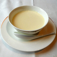 豆乳の杏仁豆腐