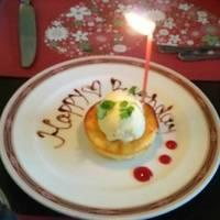 季節のお誕生日コース《春》 お誕生日のための特別デザート