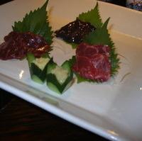 桜肉の三点盛り