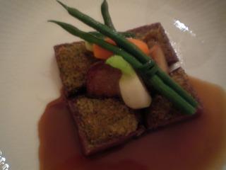 コースのお肉料理 牛フィレ