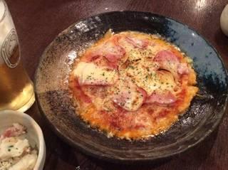 自慢の米ピザ