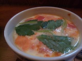 カマンベールとトマトの茶碗蒸し