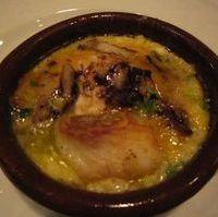 鱈と鱈の白子の土鍋焼き