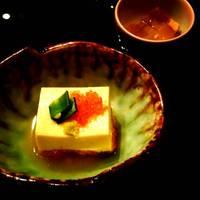 先付の雲丹豆腐