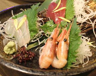 新鮮魚3点盛り合わせ