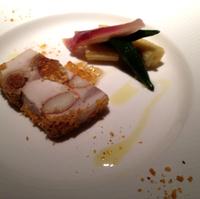 宮崎地頭鶏とカナダ産スモークロブスターのハーモニー