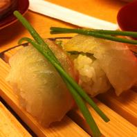 鯛と大葉の柚子風味ネギのせ