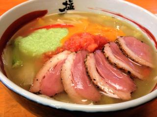 彩り野菜と鴨のラーメン