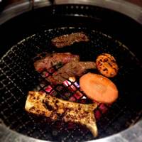 ハラミ、ロース、カルビ、野菜焼盛