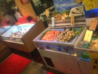 食べ放題メニュー 焼き用魚介類コーナー