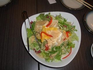 まろやか豆腐と水菜のサラダ