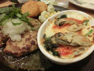 大葉おろしハンバーグ&牡蠣グラタン