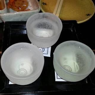四国の地酒三種飲み比べ