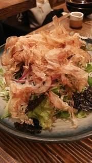 坂元醸造黒酢のしらすサラダ