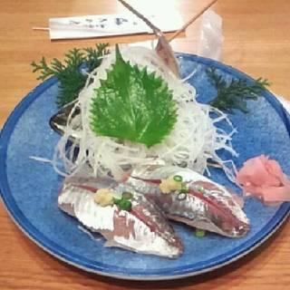 活きアジのにぎり寿司