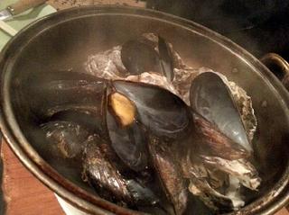 蒸し牡蠣&ムール貝