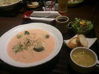 えびとブロッコリーの明太クリームスパゲティ