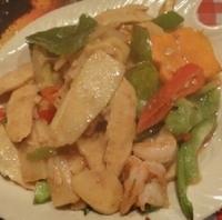 タイ筍と海老の海老ペースト炒め