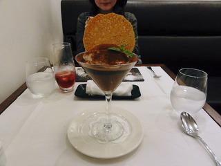 チョコレートクリームとマロンのムース