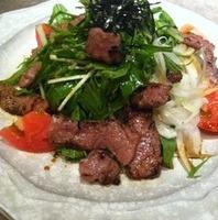 炙り牛肉のサラダ