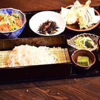 稲庭うどんと天ぷらご膳