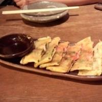 イカと紅生姜のチヂミ焼