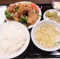 鶏の唐揚げ油淋鶏ソース