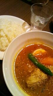 ポーク角煮のスープカレー