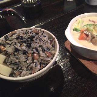 ひじきご飯とクリームチーズシチュー☆