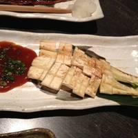 マコモダケの炭火焼き 特製味噌を添えて