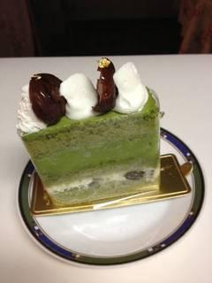 抹茶のケーキ